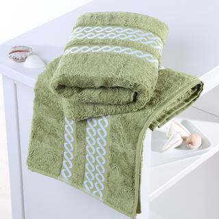 Ręczniki bambusowe Valencia oliwkowe