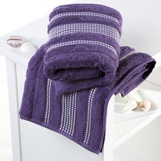 Ręczniki bawełniane frotte Paris ciemnofioletowe