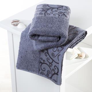 Ręcznik kąpielowy bawełniany frotte Venezia szary