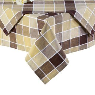 Obrusy bawełniane w kratkę brązowo-beżowe, 80 x 80 cm