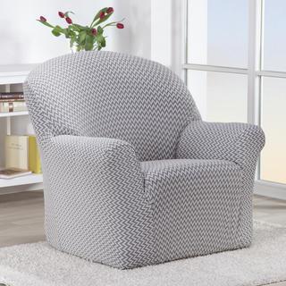 Elastyczne pokrowce CIKCAK czarno-biały fotel (sz. 60 - 110 cm)