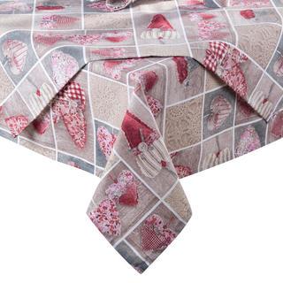 Obrus patchwork Serce czerwony