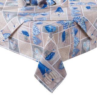 Obrus patchwork Serce niebieski