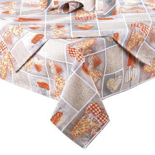 Obrus patchwork Serce pomarańczowy