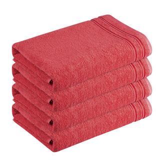 Ręczniki bawełniane frotté Rimini ceglaste