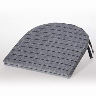 Poduszka na krzesło półokrągła Indie czarnoszara