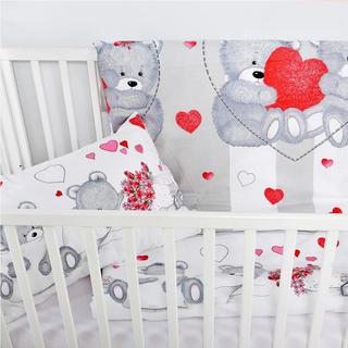 Bawełniana pościel dziecięca do łóżeczka Serduszka