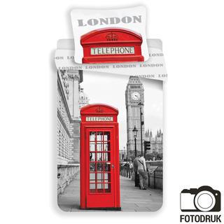 Pościel dziecięca Londyn budka telefoniczna