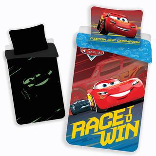 Pościel dziecięca Cars Race&Win świecąca
