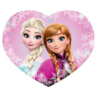 Dziecięca poduszka Frozen Elsa a Anna profilowana 31 x 24 cm