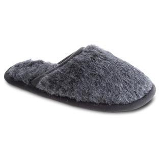 Pantofle domowe z podeszwą antypoślizgową szare