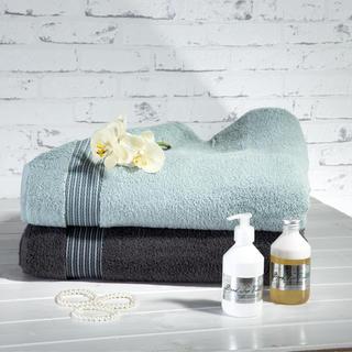 Ręczniki z mikrobawełny szary i szaroniebieski
