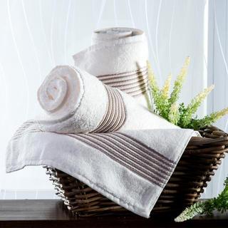 Ręcznik kąpielowy z mikrobawełny śmietankowy 70 x 140 cm