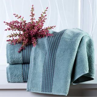 Ręcznik kąpielowy z mikrobawełny szaroniebieski