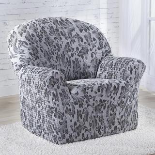 Mono-elastyczny pokrowiec ESMIRNA szary fotel (sz. 70 - 110 cm)