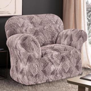 Bi-elastyczne pokrowce ASTRATO brąz, fotel (sz. 60 - 110 cm)