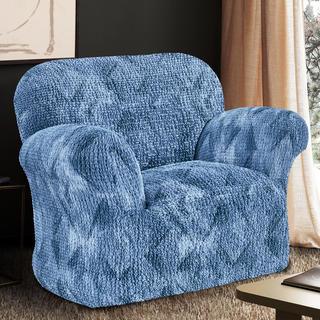 Bi-elastyczne pokrowce ASTRATO niebieski, fotel (sz. 60 - 110 cm)