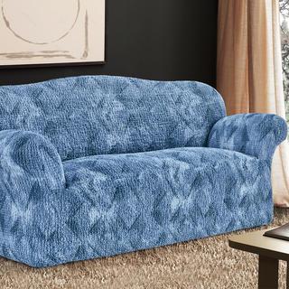 Bi-elastyczne pokrowce ASTRATO niebieski, kanapa trzyosobowa (sz. 170 - 220 cm)