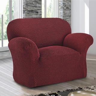Bi-elastyczne pokrowce ROMA bordó, fotel (sz. 60 - 110 cm)
