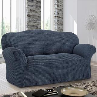 Bi-elastyczne pokrowce ROMA niebieski, kanapa trzyosobowa (sz. 170 - 220 cm)
