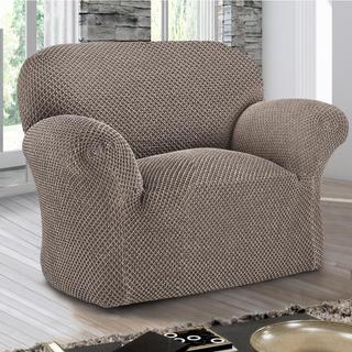 Bi-elastyczne pokrowce ROMA brązowy fotel (sz. 60 - 110 cm)