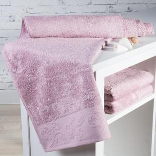 Ręcznik kąpielowy bambusowy Barcelona różowy