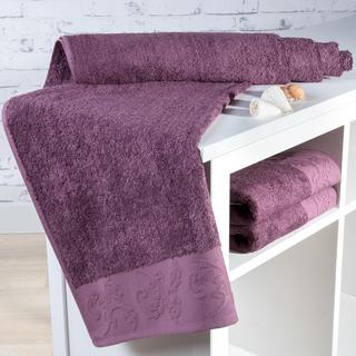 Ręcznik kąpielowy bambusowy Barcelona fioletowy