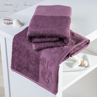 Ręczniki bambusowe Barcelona fioletowe