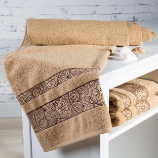 Ręcznik kąpielowy frotté Madryd piaskowy