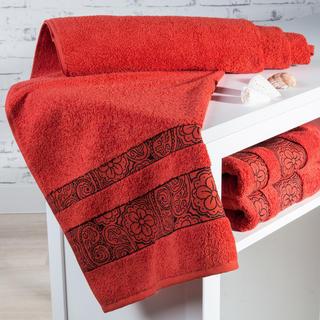 Ręcznik kąpielowy frotté Madryd terakota