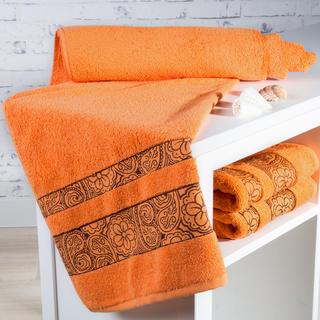 Ręcznik kąpielowy frotté Madryd pomarańczowy