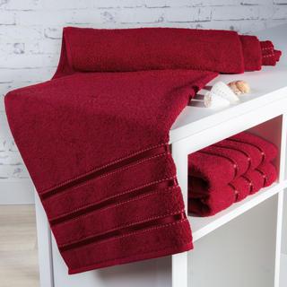Ręcznik kąpielowy frotté Bilbao czerwony