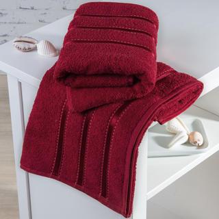 Ręczniki frotté Bilbao czerwone