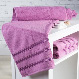 Ręcznik kąpielowy frotté Bilbao różowy