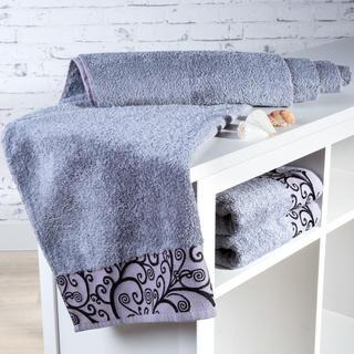 Ręcznik kąpielowy bambusowy Granada szary