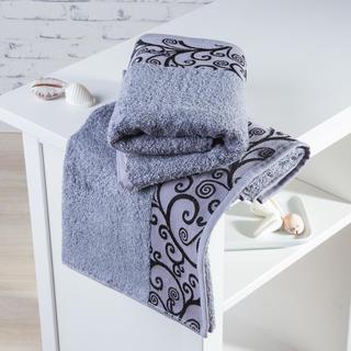 Ręczniki bambusowe Granada szare