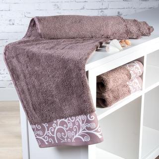 Ręcznik kąpielowy bambusowy Granada jasno brązowy