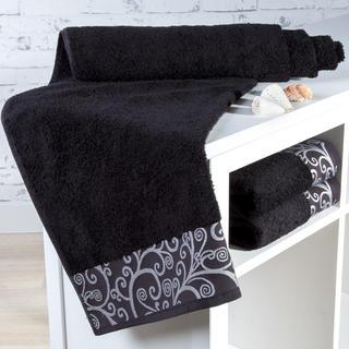Ręcznik kąpielowy bambusowy Granada czarny