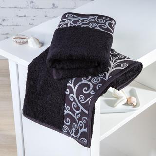 Ręczniki bambusowe Granada czarne