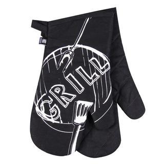 Bawełniana rękawica kuchenna Grill czarna 2 szt.