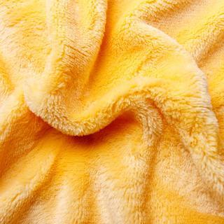 Napinane prześcieradło SLEEPWELL z mikropluszu żółte