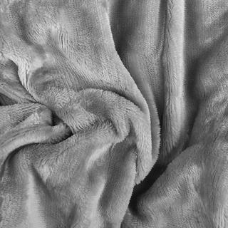 Napinane prześcieradło SLEEPWELL z mikropluszu szare