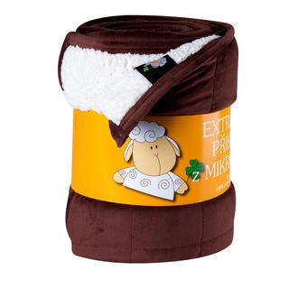 Koc pikowany Owieczka czekoladowy