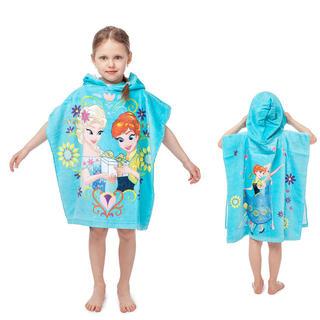 Ręcznik ponczo dla dzieci z kapturem FROZEN 60 x 120 cm
