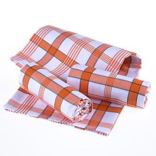 Ścierki kuchenne bawełniane Kratka pomarańczowe 3 szt.