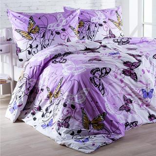 Pościel bawełniana Butterfly fioletowa