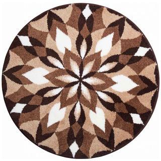 Dywan zpowłoką antypoślizgową Mandala SKRZYDŁA RADOŚCI - brązowy