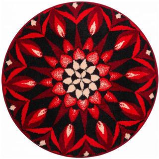 Dywan zpowłoką antypoślizgową Mandala POZNANIE - czerwony
