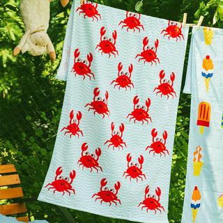 Dziecięcy plażowy ręcznik kąpielowy Szalone kraby
