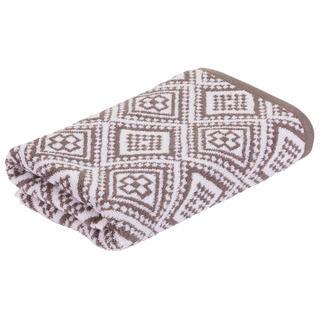 Ręcznik kąpielowy frotte MARRAKECH Mosaik brązowy 75 x 150 cm